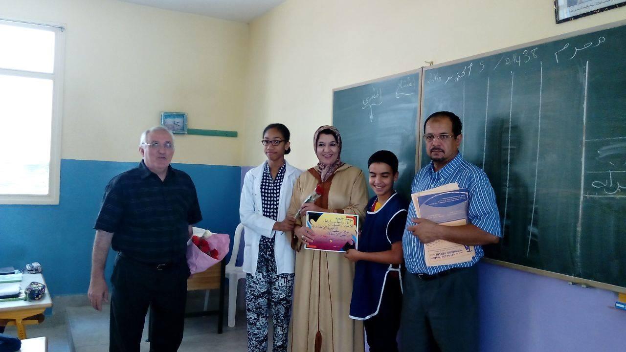 الثانوية الإعدادية مولاي سليمان يكرمون أساتذتهم بمناسبة اليوم العالمي للمدرس