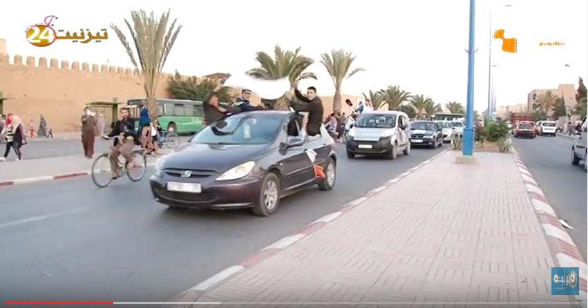 بالفيديو : العدالة و التنمية تجوب شوارع تيزنيت تعبيرا عن فرحتها بالفوز