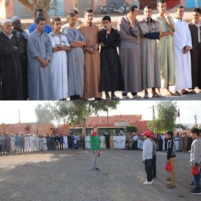 رسموكة: بالصور تحية العلم الوطني المغربي تخليدا للذكرى 41 لانطلاق المسيرة الخضراء