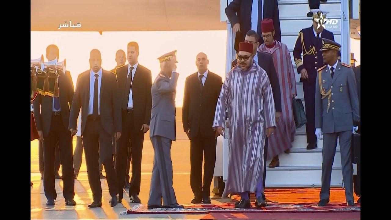 جلالة الملك يعود إلى أرض الوطن في ختام الجولة الإفريقية