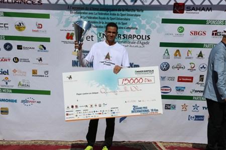 محمد الزياني يفوز بلقب سباق أكادير الدولي لمسافة 10 كلم