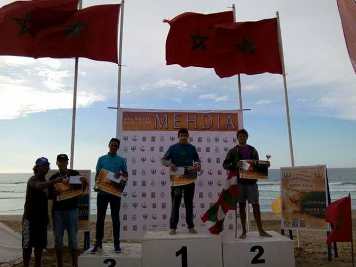 محمد العمراوي ( جمعية تيزنيت لركوب الموج ) ثالثا في البطولة الدولية أورو أطلنتيك للبوديبورد شبان