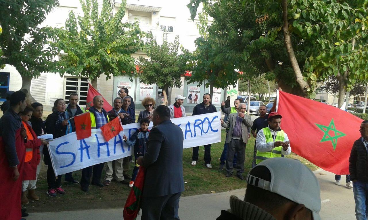 حرج بسبب هروب زعيم البوليساريو، واحتجاجات عارمة للوحدويين أمام مقرها