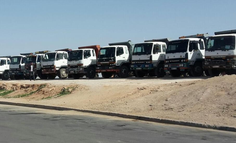 المكتب الاقليمي لسائقي و ارباب الشاحنات ينظمون وقفة احتجاجية بتافراوت