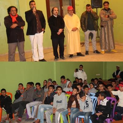 بالصور: دار الطالب وجان تستقبل عرض فيلم أمازيغي للمخرج سعيد باحوس