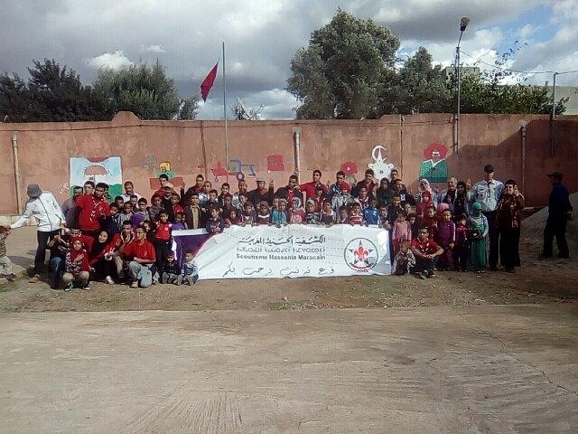 بالصور : أنشطة الكشفية الحسنية المغربية فرع تيزنيت بجماعة أربعاء أيت أحمد