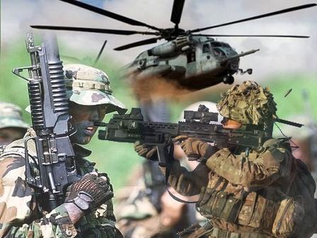 """تدريبات عسكرية بمنطقة """"أكني واعرابن"""" بميراللفت"""