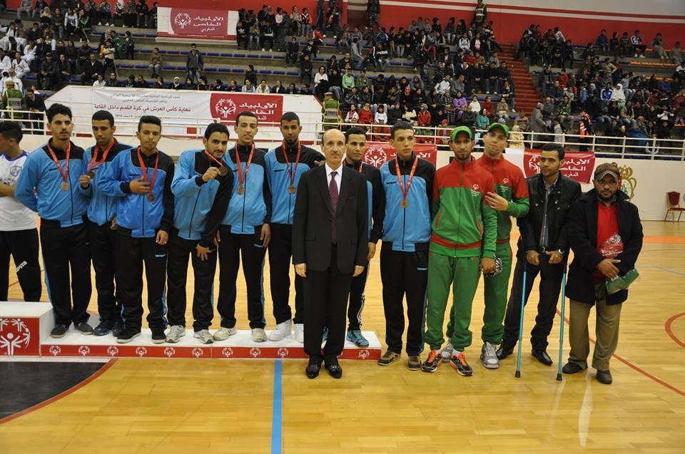 فريق جمعية تحدي الاعاقة يحتل المركز الثالث في كأس العرش داخل القاعة برسم الموسم 2016