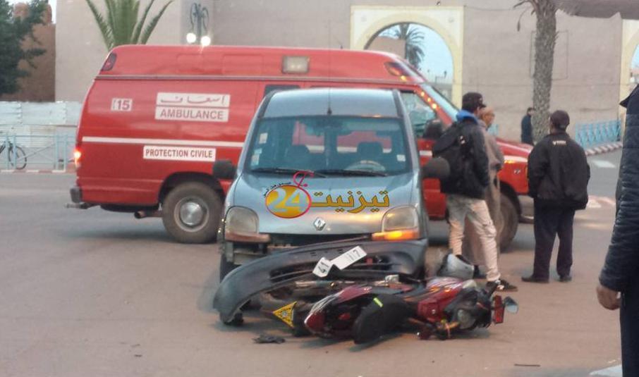 خسائر مادية في حادثة سير بالمدار الحضري لتيزنيت