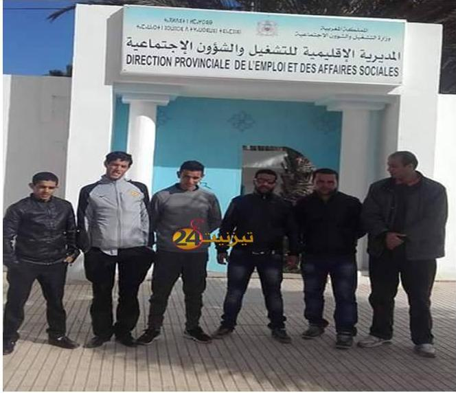 بعد اضرابهم حراس الامن الخاص بمعهد فاضمة البوهالي بمراللفت بمديرية التشغيل بطانطان