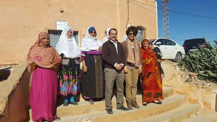 البطلة العالمية نزهة بيدوان بجماعة سيدي بوعبداللي