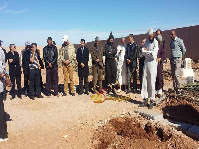 تشييع جنازة المرحوم الحاج رضوان  موظف جماعة تيزنيت
