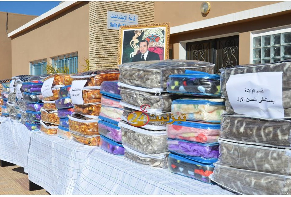 توزيع 100 غطاء على اقسام و مصالح مستشفى تيزنيت + صور