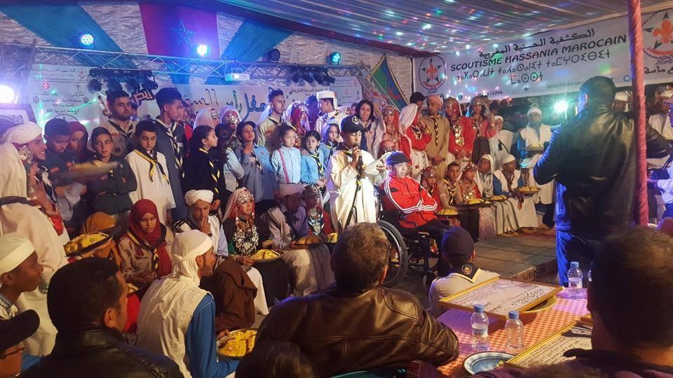 الكشفية الحسنية المغربية فرع ماسة تحتفل بإيض يناير 2967