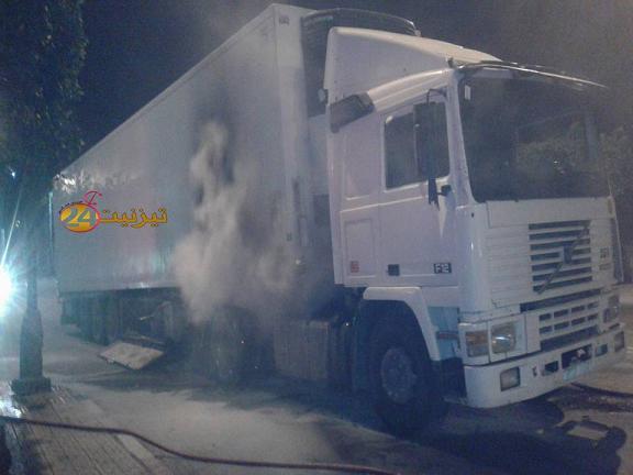 اندلاع حريق في شاحنة على مشارف مدارة تيزنيت الرئيسية