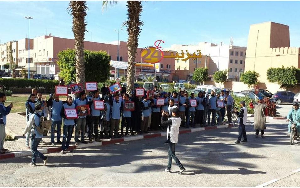 باعة جائلون يخرجون في مسيرة احتجاجية ضد جماعة تيزنيت + فيديو
