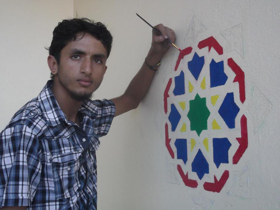 """الفنان """"كريم الكاهية"""" ابن مدينة تيزنيت يشارك في ملتقى دولي بدولة مصر"""