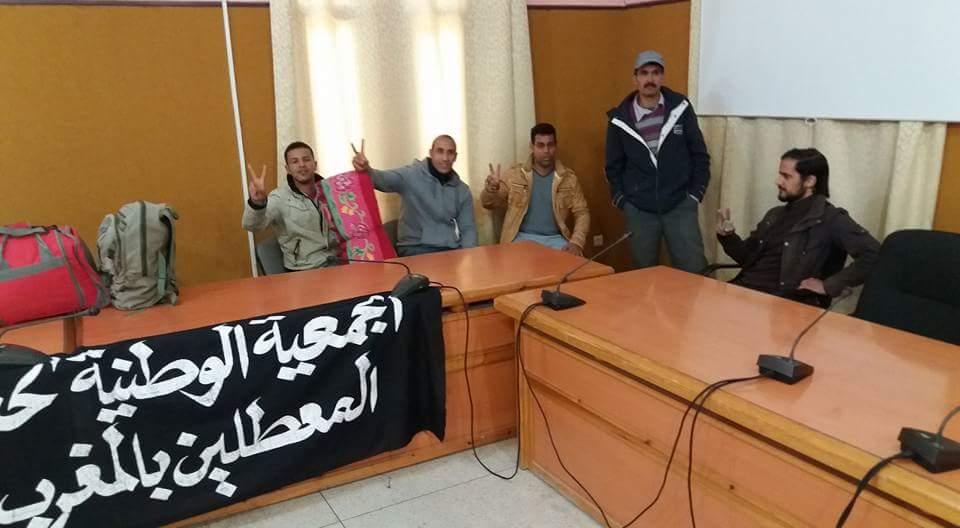 بوغضن يفتح حوارا مع جمعية المعطلين و يعدهم بدراسة بعض مطالبعم