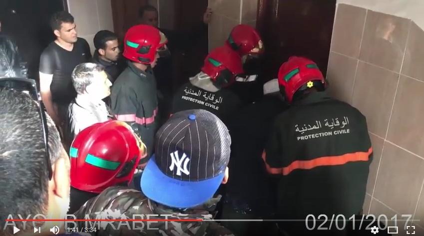 اكادير : حريق بمحل تجاري يتسبب في احتراق 3 شقق سكنية + فيديو