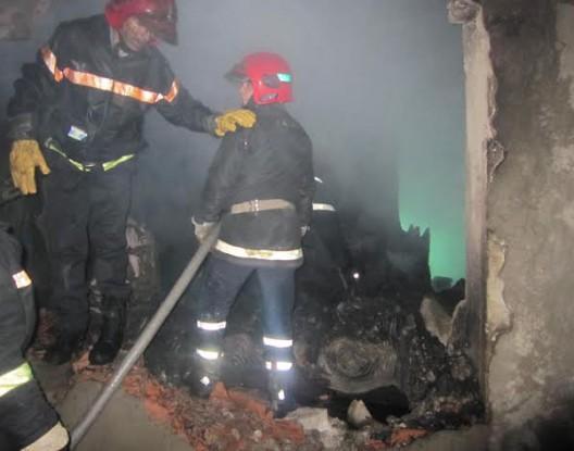 حريق مهول بمحل للتدليك بكورنيش أكادير