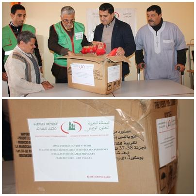 أولاد جرار : التعاون الوطني يواصل توزيع الدفعة الثانية من المساعدات العينية