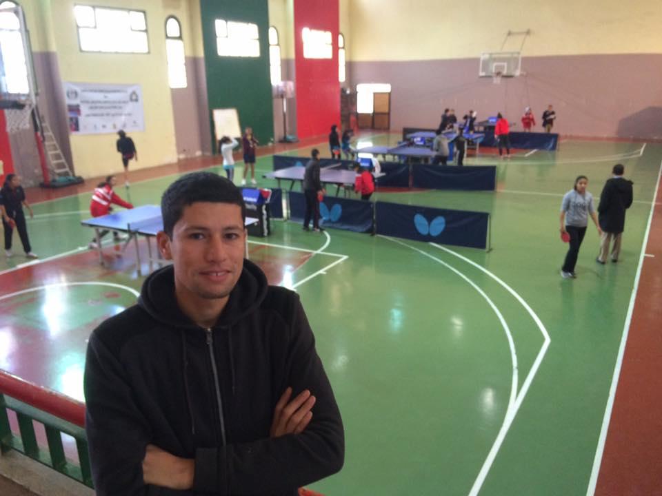 ياسين بن شبو من تيزنيت يشارك في قيادة البطولة الدولية لتنس الطاولة بقطر