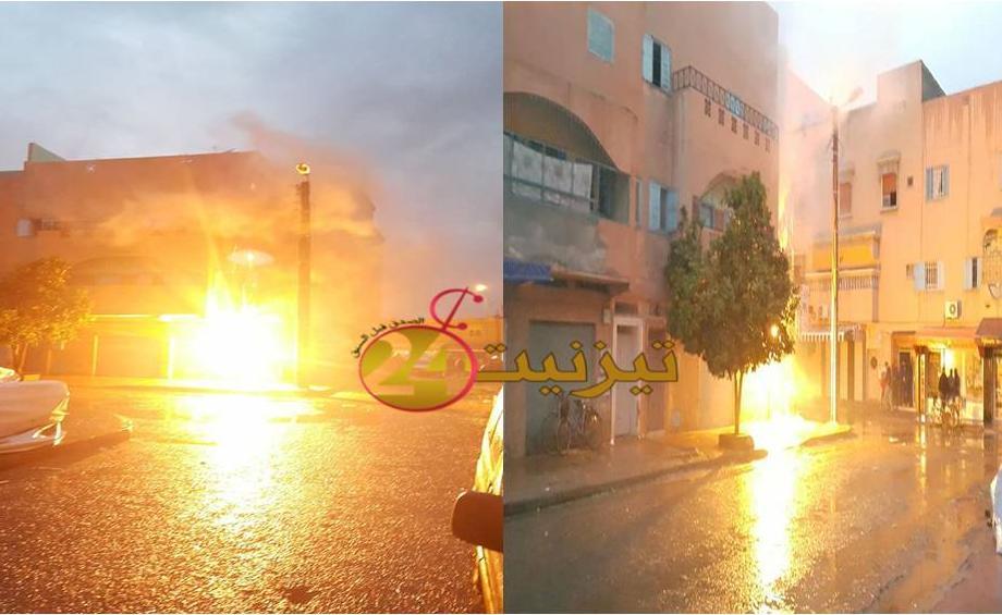 انفجارات قوية وسط حي افراك بتيزنيت + فيديو