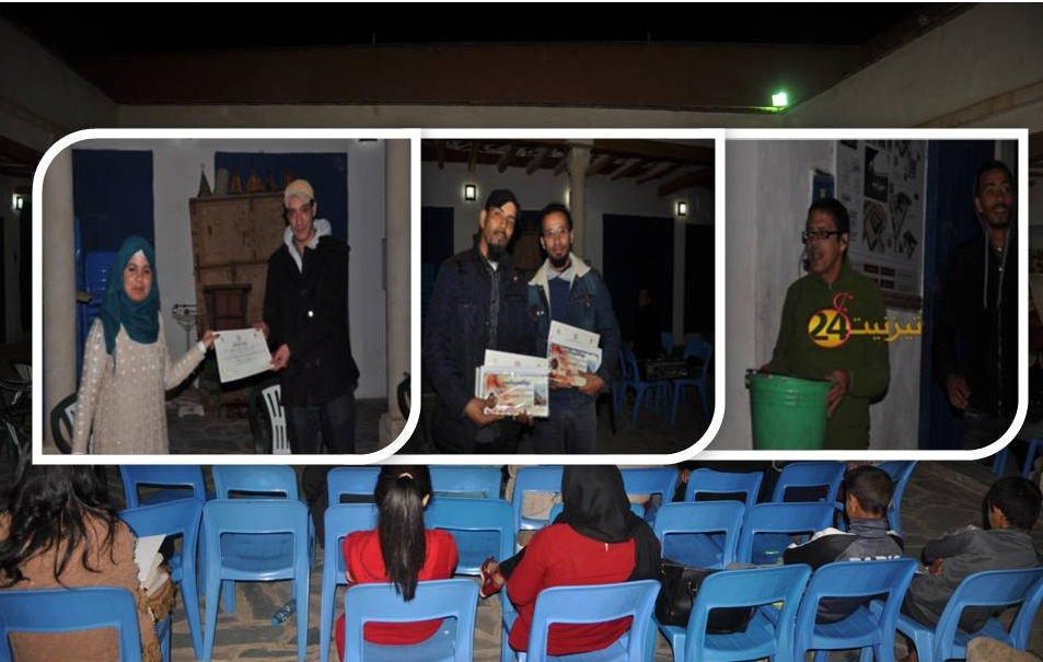 """اختتام مهرجان المسرح الدولي """"أمزكون"""" بتكريم فعاليات فنية تيزنيتية"""
