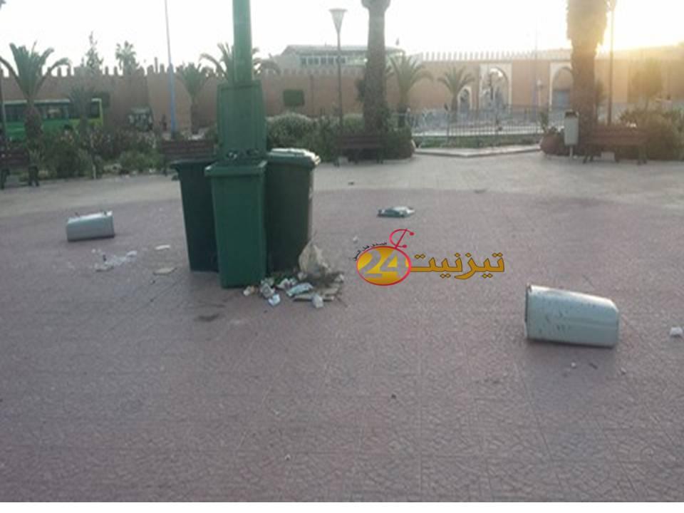 مجهول يعتدي على ممتلكات حديقة مسجد السنة