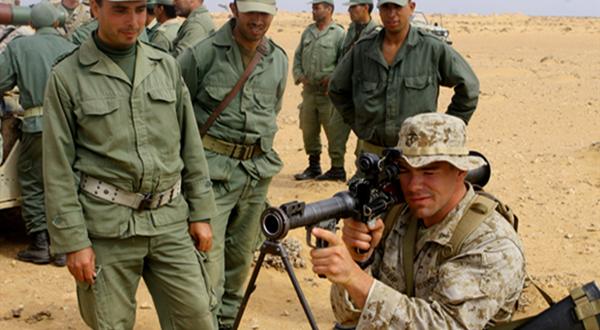 """قوات """"المارينز"""" الأمريكية تدرب الجيش المغربي على مهارات جديدة بمنطقة تيفنيت"""