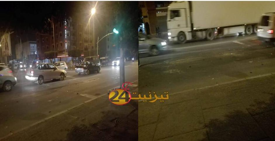 اصابة شاب بتيزنيت بجروح خطيرة في حادثة سير بشارع بئرانزرن