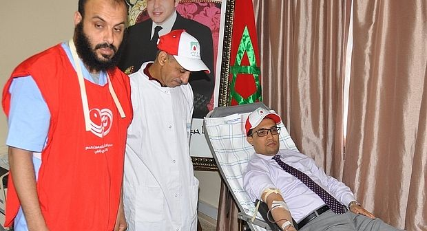 تنظيم حملة للتبرع بالدم لموظفي وزارة الداخلية بسيدي إفني