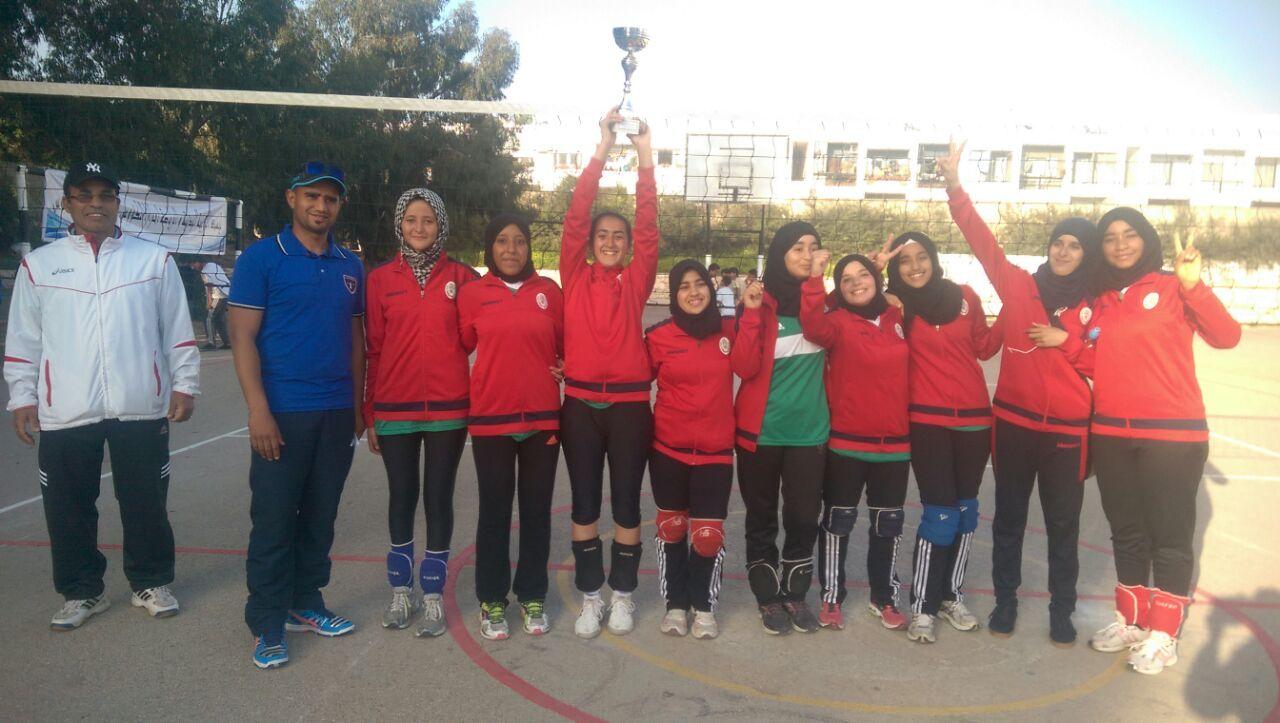 فتيات ثانوية الوحدة بتيزنيت بطلات جهة سوس ماسة في الكرة الطائرة المدرسية