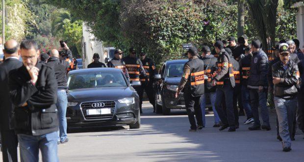 اعادة تمثيل جريمة اغتيال البرلماني مرداس في الدار البيضاء