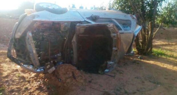 صور: وفاة شاب في حادث انقلاب خطير لسيارة بين أكادير و تيزنيت