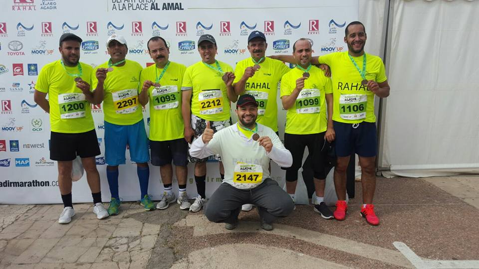 جمعية اصدقاء بلال للرياضة تشارك في مارطون أكادير الدولي