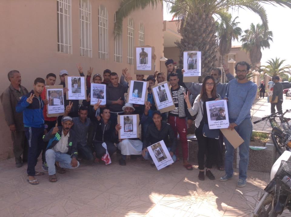 باعة جائلون يحتجون أمام محكمة تيزنيت