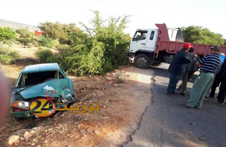 بالصور : حادثة سير بجماعة سيدي بوعبداللي تخلف جريحين