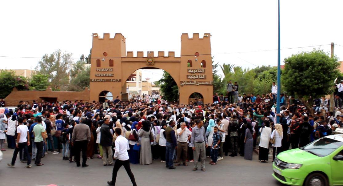 تارودانت: وقفة احتجاجية وتضامنية مع الأطر التعليمية المعنفة بثانوية الحسن الثاني بأولاد تايمة