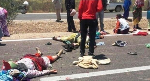 سقوط ضحايا في حادثة سير خطيرة بين تيزنيت و اكادير