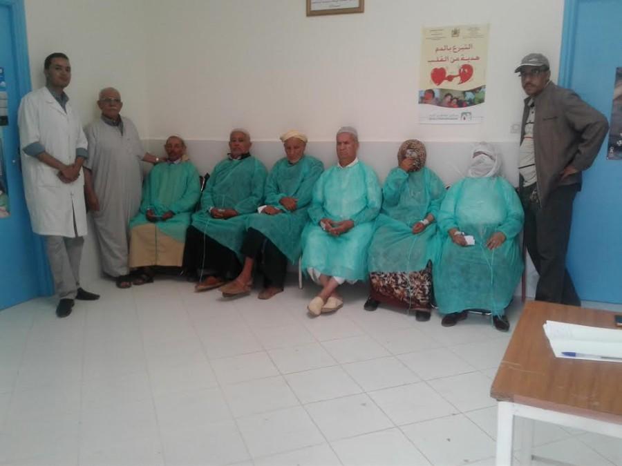 جماعة وجان: حملة طبية مجانية في فحص العيون و جراحة الجلالة