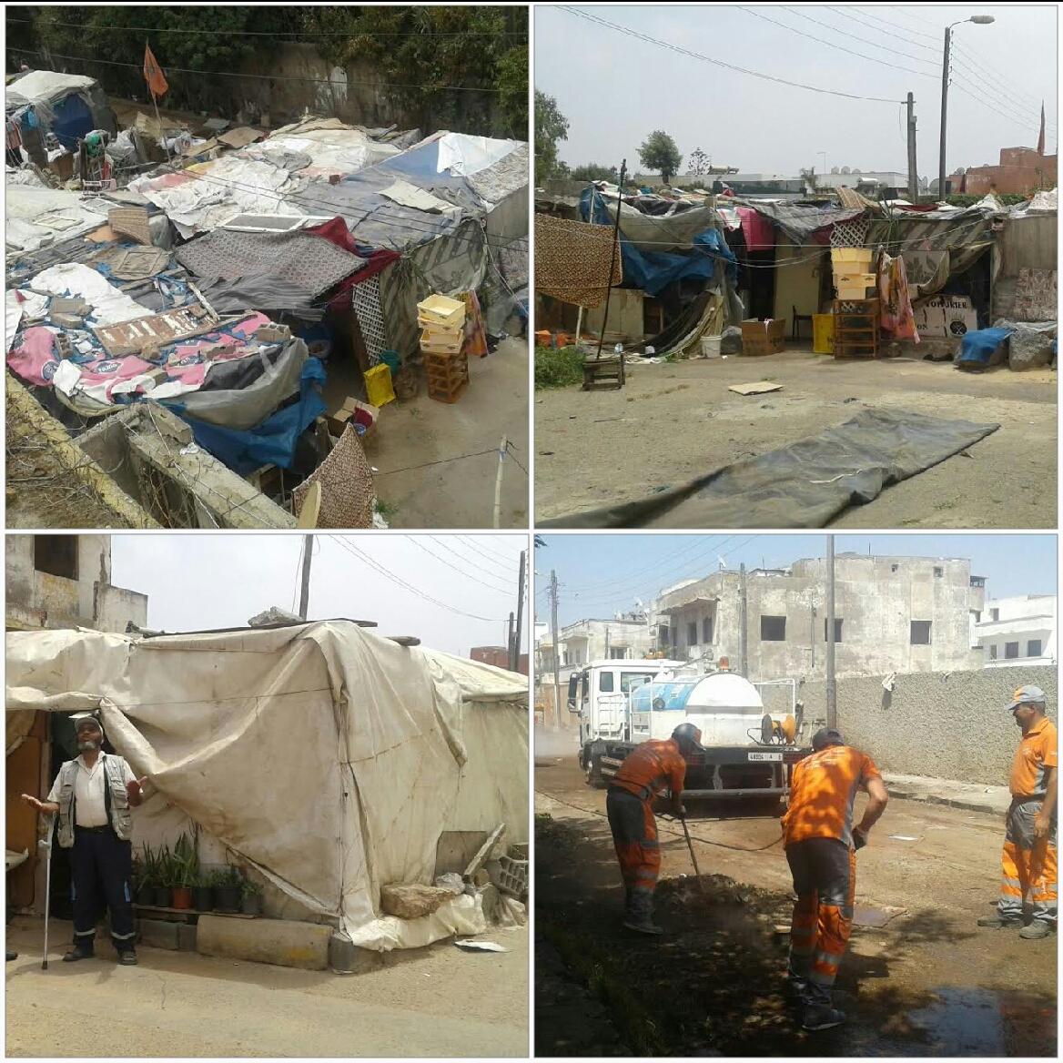 عمالة مقاطعات الدار البيضاء –آنفا  تحرر زنقة علي بن حرازم بحي لوبيز بوركون+الصور