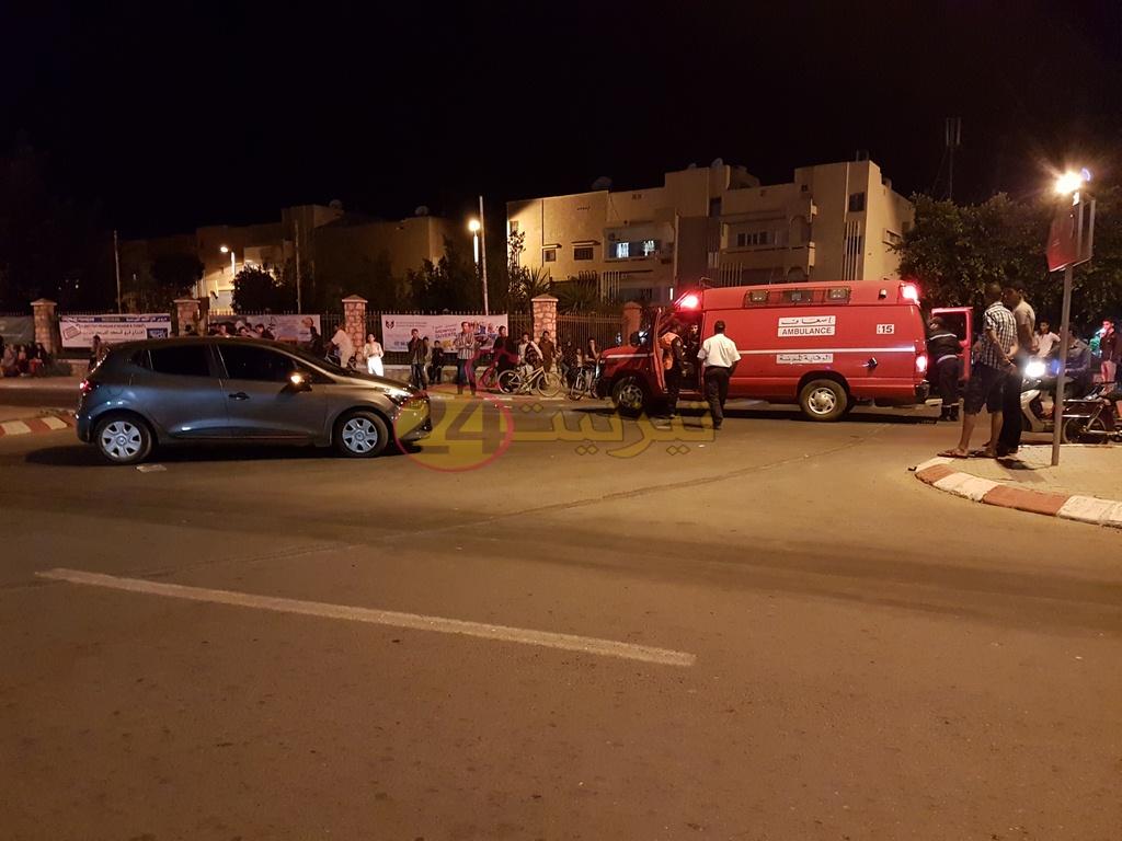 حادثة سير بشارع الحسن الثاني بتيزنيت تخلف جريح + صور