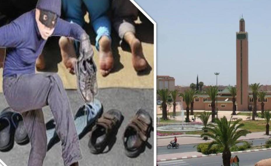 مواطنون يفشلون سرقة مجموعة من الاحذية بمسجد السنة