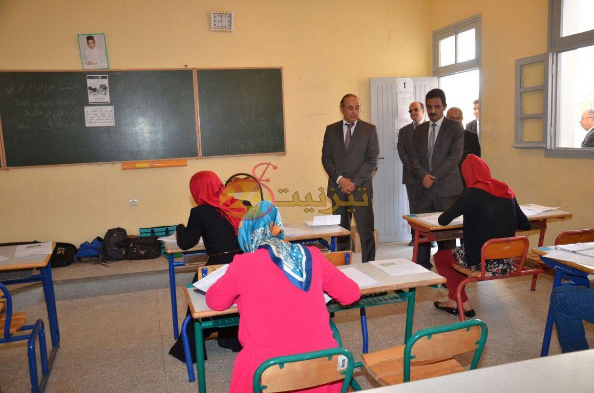 عامل الاقليم والنائب الاقليمي لوزارة التربية الوطنية يشرفان على انطلاقة امتحانات الباكلوريا