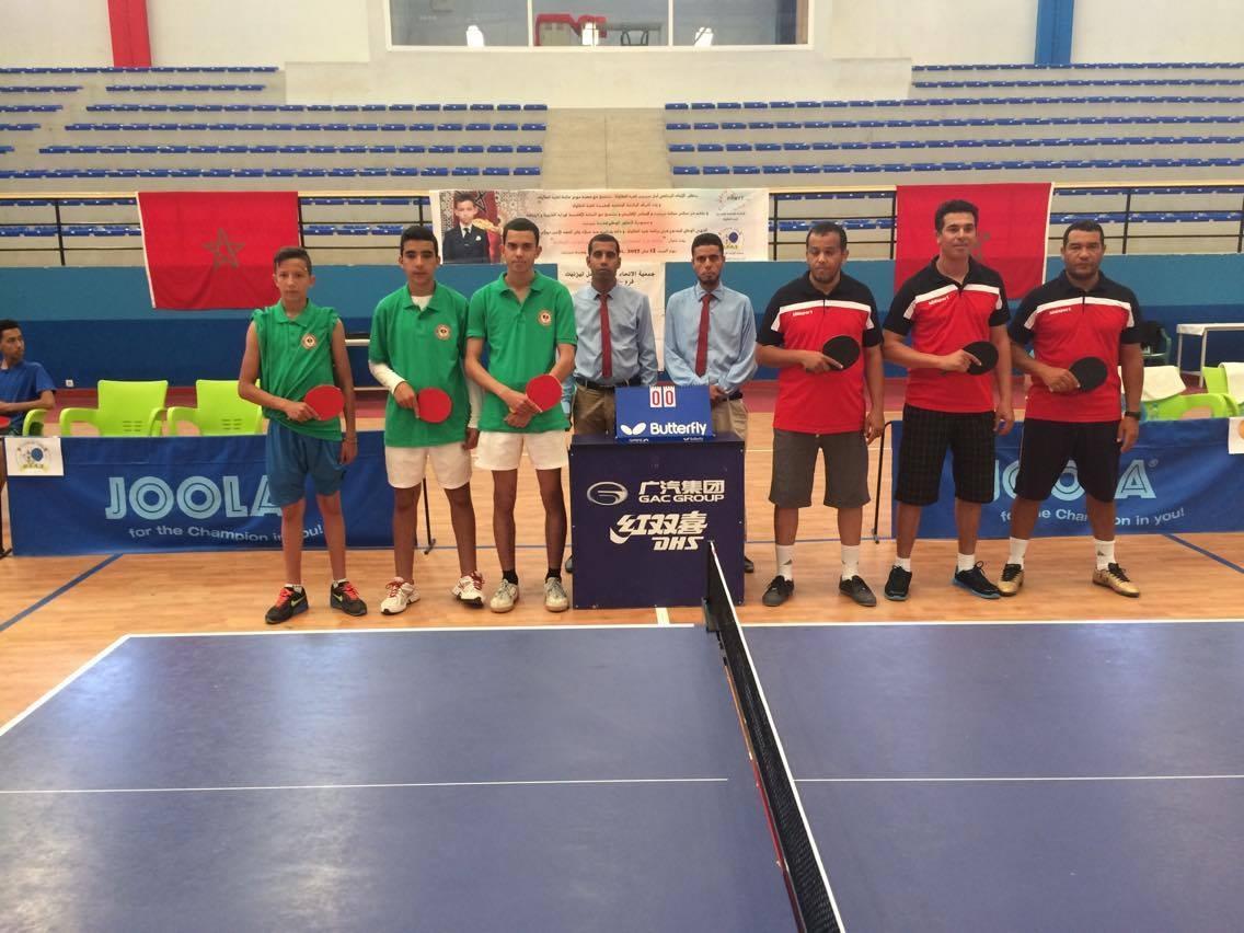 نادي امل تيزنيت لكرة الطاولة يشارك في مقابلات السد للبطولة الوطنية للقسم الثاني (شطرالجنوب)