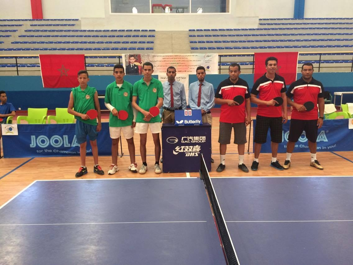 مشاركة نادي امل تيزنيت لكرة الطاولة في المقابلات السد للبطولة الوطنية للقسم الثاني (شطرالجنوب) للموسم الرياضي 2016/2017 .