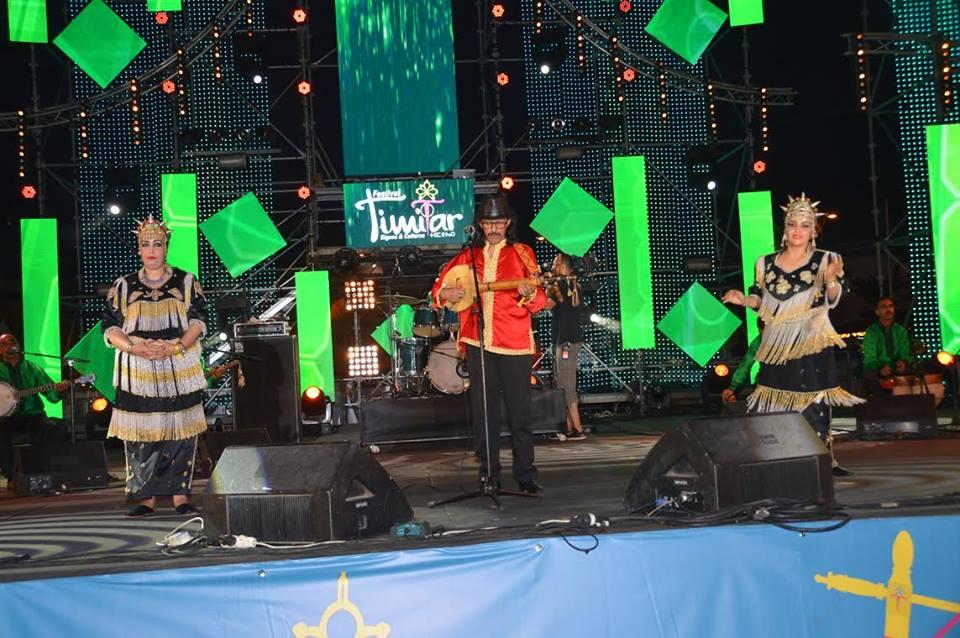 الرايس حسن أرسموك يلهب خشبة ساحة الأمل بأكادير  في افتتاح مهرجان تيميتار