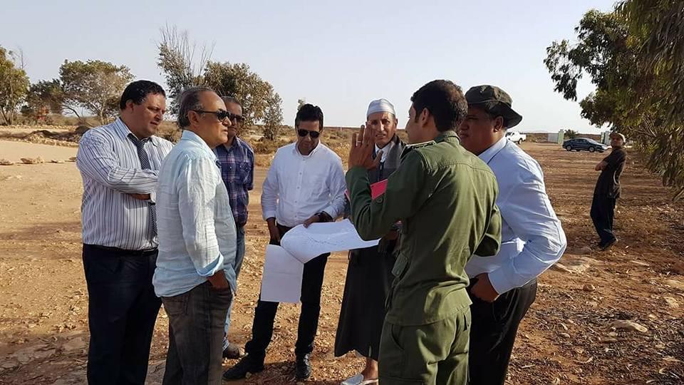 رئيس جامعة ابن رهر عمر حلي يزور عقار النواة الجامعية بغابة موانو بتيزنيت