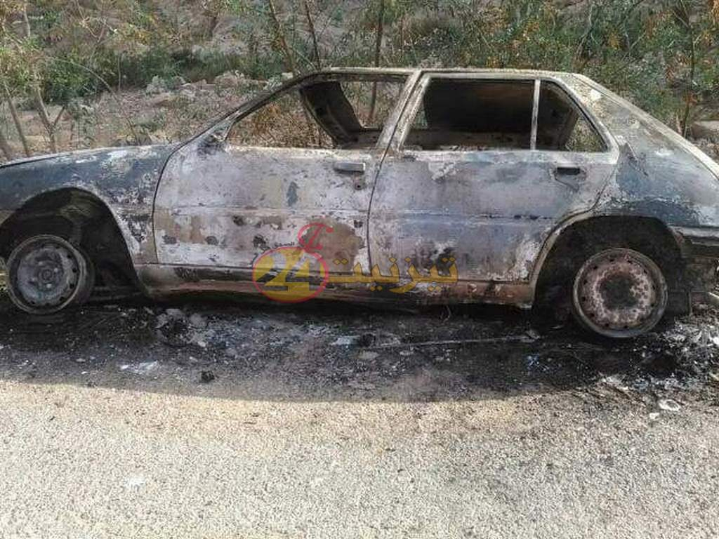 درك ميراللفت يعثر على سيارة محروقة تعود لمواطن بحي افراك بتيزنيت